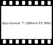 Carl Zeiss Apo-Sonnar T* 200mm F2 MMJ