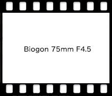 Carl Zeiss Biogon 75mm F4.5