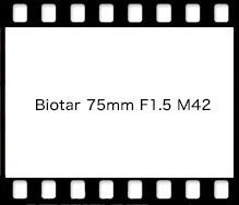 Carl Zeiss Biotar 75mm F1.5 M42