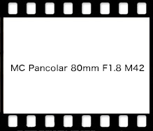 Carl Zeiss MC Pancolar 80mm F1.8 M42