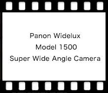 Panon Widelux Model 1500 Super Wide Angle Camera